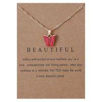 Collana a sospensione a farfalla acrilica, collana in lega di costellazione collana a catena regalo gioielli a catena per le donne