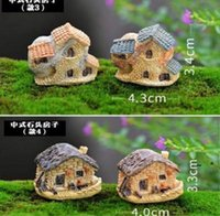 Bahçe Süslemeleri Sevimli Mini Taş Ev Peri Minyatür Zanaat Mikro Cottage Peyzaj Dekorasyon Reçine El Sanatları BWD6668