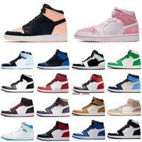 Nike Air Jordan 1 AJ1 Retro Jumpman 1 scarpe da basket Atletica Sneakers scarpa da corsa per le donne di sport della torcia Hare Gioco Reale Pine Green Court Senza Box Size 36-47
