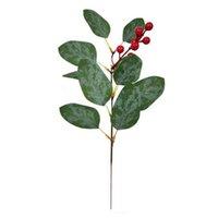 أوراق النبات ينبع زهرة وهمية الخالد الأوكالبتوس النباتات الاصطناعية 10 قطع مع الفاكهة الخضرة ديكور eucalipto فروع الزهور الزخرفية