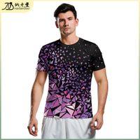 Nova juventude camiseta Material de lã de tecnologia Esportes 3D impresso manga curta personalizada T-shirt solta