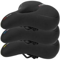 مريحة تنفس دراجة سرج عدم الانزلاق امتصاص دراجة مقعد وسادة مع مقبض السلامة أجزاء السروج