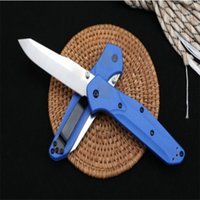 Butterfly 940 Folding Knife Half Tooth With Blue Handle - Full Blade S30V Sharp Blade G10 Handle Military Survival Knife Pocket