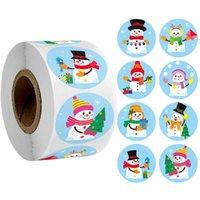 10 스타일 크리스마스 스티커 씰링 스티커 라운드 메리 크리스마스 스티커 봉투 카드 선물 상자 장식 GWE8720