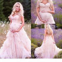 Peluche Pink Sweetheart Pal Robes De Palade De Maternité Robe de soirée enceinte enceinte 3D Femmes de fleur à la main