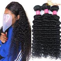 Gagaques Brasileño Brasileño Paquete de cabello humano 100% Sin procesar Brasileño Onda profunda 3/4 Paquetes Brasileños Human Hair Weaves