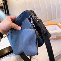 Handtaschen Männer Leder Trio Messenger Bags Luxus Umhängetasche Make up Tasche Designer Handtasche Tasche Man's Tasche # 001