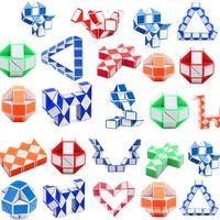 Intelligence Jouets Mini Magic Cube Snake Shape Toy Jouet Jeu 3D Cubes Puzzle Twist Twist Puzzles Cadeau Random Intelligences Supertop Cadeaux