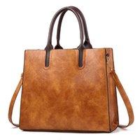 Evening Bags Designer Handbags Leather Women Large Capacity Vintage Hand Top-Handle Solid Tote Ladies Shoulder Bag