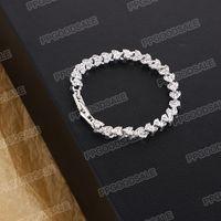 Mulheres de cristal romano europeu e americano Natural Zircon pulseira de diamante completo