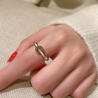 Rose Gold Plated White Shell Love Forever Engagement Gift Ring for Women