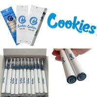 쿠키 일회용 vape 펜 카트리지 담배 360mAh vapes 배터리 스타터 키트 0.5 ml 빈 전자 담배 포장 가방 분무기 기화기 펜 PC 튜브