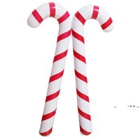 88X 25 X 7cm Inflatable Candy Cane Classic Lightweight Hanging Decoration Christmas Party PVC Balloons Adornment LLD10968