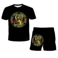 3D Print T-shirt Boys Girls Top+Shorts 2pcs Sets Sport Suit Baby Clothes Thai Venomous Snake Cobra Kai T Shirt