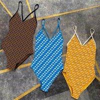 Unregelmäßiger Brief Druck Body Swimwear Designer Stil Womens One Piece Badeanzug Outdoor Urlaub Strand Bikini
