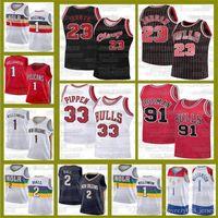 Zion 1 Pelicanos de WilliamsonChicago23 Michael Scottie 33 Pippen Dennis 91 Rodman Jersey Lonzo 2 Ball Retro BullBasquetebol