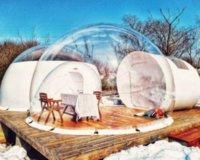 2021 Garten Bubble Zelt Garten Iglu Zelt auf Verkauf 3m / 4m / 5m Blase Hotel Transparent Kuppelbaum
