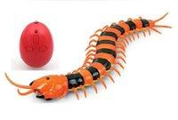 [Komik] Elektronik Pet Uzaktan Kumanda Simülasyon Dev IR RC Scolopendra Kırkayak Tricky Prank Korkunç Robotik Böcek Oyuncak Hediye Q0823