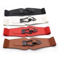Belts Fashion Wide Waistbands Women Elastic Waist Belt For Dress Sweater Pin Buckle Leather Girls Cummerbunds Stretchy