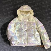 Frauen Oberbekleidung Bunte Daunenjacke Damen Täfelte dünne Jacken Mantel Glänzende Weihnachtsgeschenk Top Qualität Winter Casual Outdoor Warme Outwear Verdicken Farbverlauf