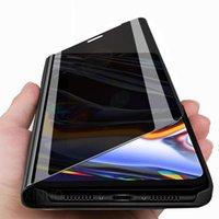 Akıllı Ayna Kılıf Oppo RealMe için 7 Pro Standı Kitap Çevirme 7Pro RealMe7 RealMe7Pro Coque Kılıfları Cep Telefonu