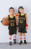2021 الأزياء الرياضية كرة السلة الكولوث للأطفال الفانيلة حجم xxs xs s m l xl xxl no. 23 الأصفر الأبيض الأرجواني الأسود كيد الرياضة الدعاوى الزى والسراويل