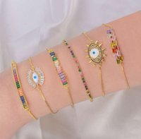 ketten personalisierte mikro eingelegter zirkon raus frei sonne moon böse auge regenbogen armband frauen farbe kristall