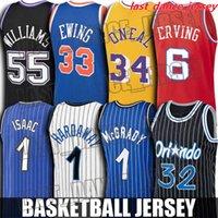 Jersey Basketball Jersey Shaquille 32 oneal Jerseys Julius Tracy erving McGrady Jersey Jason Ray Williams Allen Patrick Larry Ewing Bird