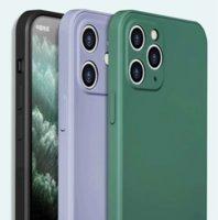 Custodie in silicone liquido in gomma per iPhone 11 12 Pro Max XR XS-MAX 6 7 8 PLUS Coperchio di copertura del telefono cellulare ultra sottile