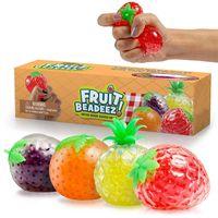 DHL Ship Fruit Jelly Water Squishy Cool Stuff Things Funny Thing Toys Fidget Anti Estrés Reliever Fun para Niños Adultos Regalos de novedad