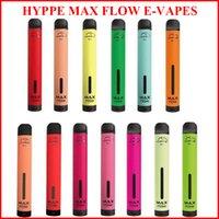 새로운 HYPPE 최대 흐름 2000 퍼프 일회용 vape 공기 흐름 조정 가능한 전자 담배 900mAh 6.0ml 일회용 장치 10 색