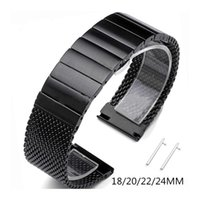 Watch Bands 18mm 20mm 22mm 24mm Quick Release Band Solid 304 Stainless Steel Braided Bamboo Thick Mesh Strap Wristband