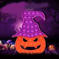 large Halloween finger bubbles popper push pop fidget sensory toys rainbow pumpkin carecrow ghost witch cartoon poo-its puzzle kids early education