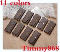 Top-Qualität Brieftaschen Halter Falten Brieftasche 10 Farben Druck Blume Die stilvolle Möglichkeit, um Geld zu tragen, Karten, Münzen Männer und Frauen Leder Geldbörse Kartenhalter