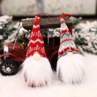 США стоковые с Рождеством Христовые Шведские Санта Гном плюшевые куклы Орнаменты Handmade Elf Toy Holiday Дом Вечеринка Декор Украшения