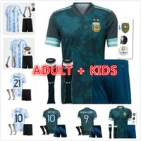 Copa América 2021 2022 criança argentina futebol jersey 21 22 messi dybala maradona aguero di maria higuain camisas de futebol adulto kit kit + meias