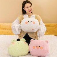 Cute Cartoon Throw Pillowcase Home Textile Linen Animal Printed Cushion Car Sofa Pillow Children Room Decorative