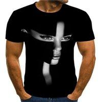 2020 Nueva camiseta de moda retro de moda 3D Funny Expression Mens T-shirt Star Singer Music Shirt de manga corta de verano