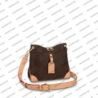 M45354 ODEON PM MM المرأة حقيبة التسوق crossbody الجلود جلد البقر قماش تحقق فاخرة حقيبة محفظة حمل الكتفين الكتفين مخلب N50064