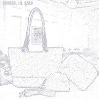 Pink Sugao Designer Handbag Mujer bolsa de asas 3 unids / set de alta calidad PU de cuero bolso de moda Mensajero Crossbody Bolso de hombro