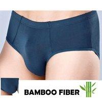 Biancheria intima da uomo in fibra di bambù traspirante per Big Penis Plus Size Solid Color Color Basic Ropa Interior Hombre Sexi Silk Slip Slip Slip