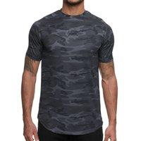 ASRV Moda erkek Kamuflaj Hızlı Kurutma T Shirt Yaz Yeni Baskılı Kısa Kollu Tişört Adam Spor Spor O-Boyun Tee Koszulka Y0323
