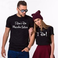Women's T-Shirt Matching Shirts For Couples Wedding Tees Bride And Groom Husband Wife Outfits I Don't Do Funny