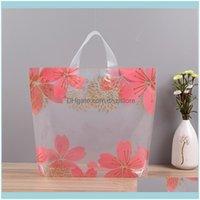 Ereignis Festliche Home Garden50PCS / Pack Kunststoff Tasche mit Griff Blume Nettes Geschenk Große Einkaufstuch Partei Verpackung Taschen Liefert Wrap Drop