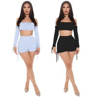Women plus size tracksuits summer fall clothes sexy club fitness sweatshirt t-shirt shorts pleated sportswear pullover crop top leggings outfit vest bodysuit 01711