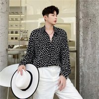 Men's Casual Shirts 2021 Spring Autumn Korean Slim Fit Men Brand Long Sleeve Print Mens Male Buttons Clothing Blouses O194