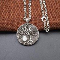 Collana del ciondolo del sole del sole dell'albero del mondo e della luna della luna collana dei gioielli della stregoneria Yin Yang