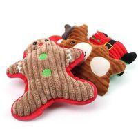 الكلب اللعب يمضغ مضغ لطيف الكرتون الصوت لعبة الحيوانات الأليفة عيد الميلاد مولي أفخم دمية جرو سانتا ثلج هدايا EWD3074 NVUT 2FQ4