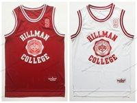 Nave da US Wayne 9 Hillman College Theatre Basket Jersey Tutte le maglie dei film da uomo cuciti Dimensioni rosse bianco S-3XL Top Quality
