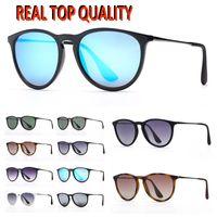 Mens Polarized Sunglasses Moda Womens Sun Óculos de Entrada Erika Eyeware des Lunettes de Soleil Lentes de proteção UV com estojo de couro livre